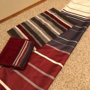 4 piece shower curtain/bathroom set